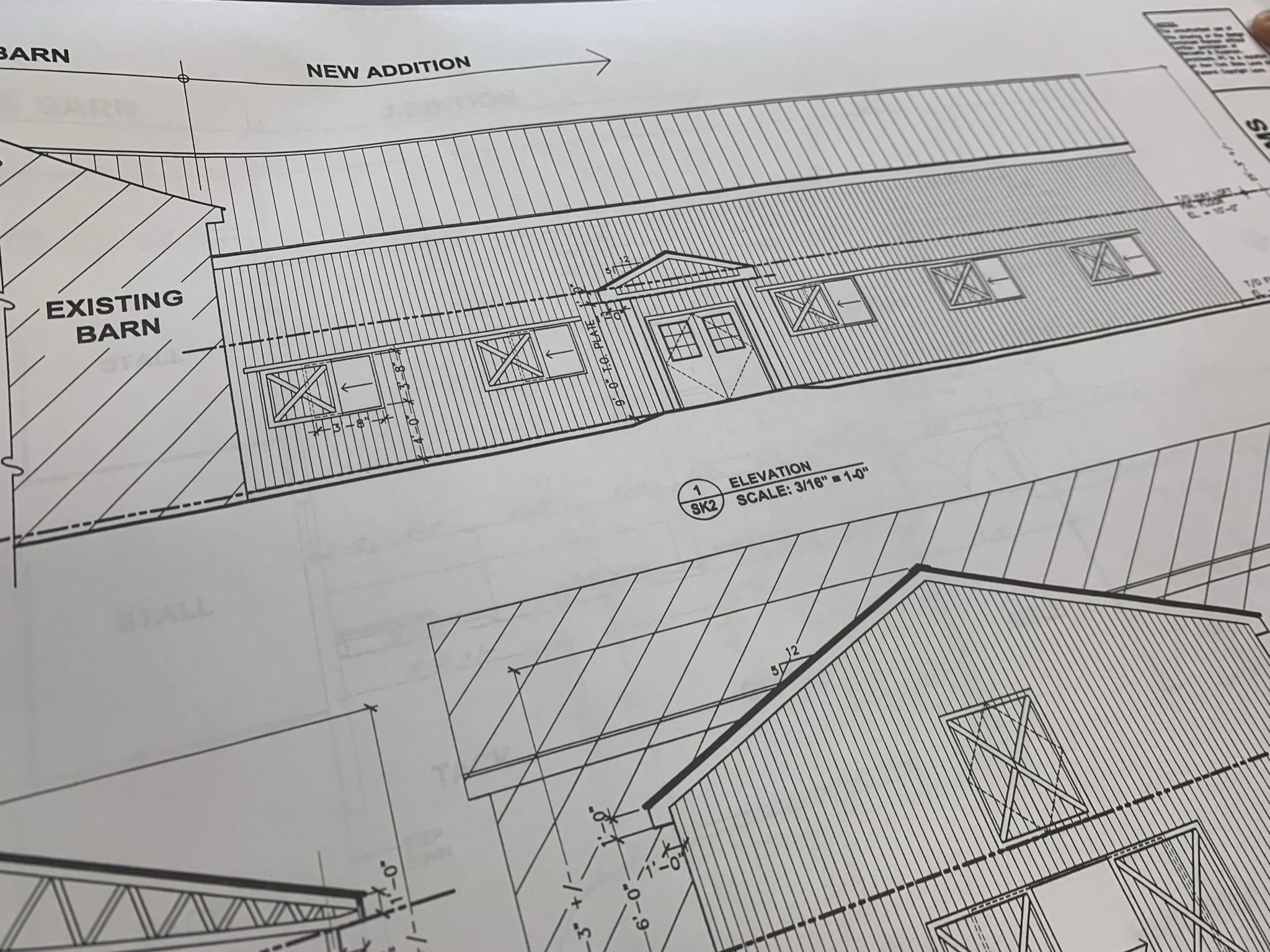 Blue Print of Barn Expansion